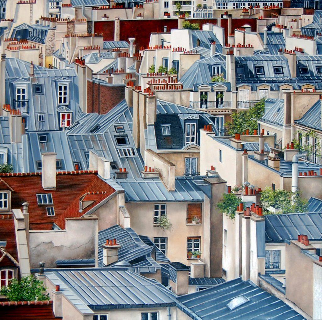 Creapainting Paris Roofs